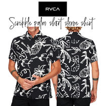 【RVCA】SCRIBBLE PALM SHORT SLEEVE SHIRT シャツ 派手 白黒