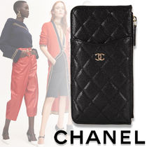 2020SS★CHANEL★TIMELESS CLASSIC カーフスキン フォンケース