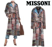 [関税・送料込] MISSONI☆Patchwork wool-blend coat