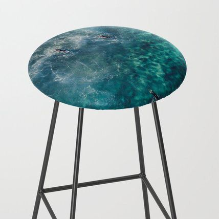 Society6 椅子・チェア 日本未入荷・送料無料 Surfing in the Ocean 2 Bar Stool