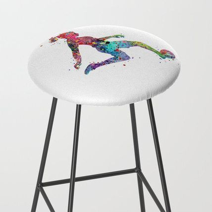 Society6 椅子・チェア 日本未入荷・送料無料 Girl Soccer Player Watercolor Sports Ar