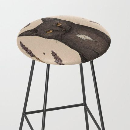 Society6 椅子・チェア 日本未入荷・送料無料 The Cat and Lavender Bar Stool