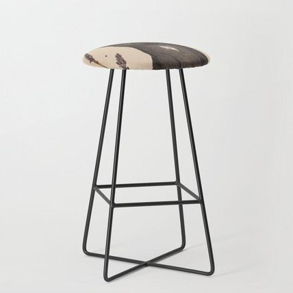 Society6 椅子・チェア 日本未入荷・送料無料 The Cat and Lavender Bar Stool(2)