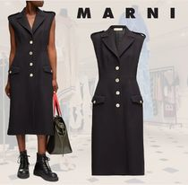 SALE☆**MARNI**マルニ★Sleeveless single-breasted コート