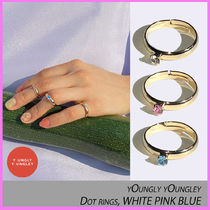☆yOungly yOungley☆Dot rings, WHITE PINK BLUE リング☆3色☆