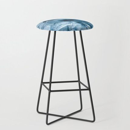 Society6 椅子・チェア 日本未入荷・送料無料 Churning Blue Ocean Waves Abstract Pain(2)