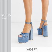 ASOS Wide Fit Water chunky platform bow heeled sandals