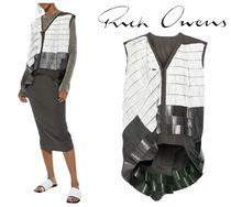 [関税・送料込] RICK OWENS☆Beaded cotton-blend canvas vest