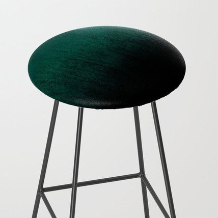 Society6 椅子・チェア 日本未入荷・送料無料 Emerald Ombre Bar Stool