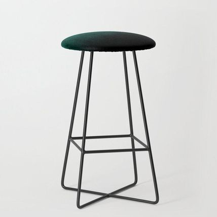 Society6 椅子・チェア 日本未入荷・送料無料 Emerald Ombre Bar Stool(2)