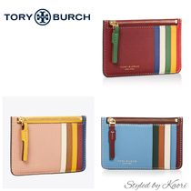 Tory Burch Perry カラーブロック ジッパー付き カードケース