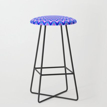 Society6 椅子・チェア 日本未入荷・送料無料 Psychedelic Pulse in Blue and Pink Bar(2)