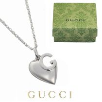 GUCCI(グッチ) ネックレス・ペンダント ☆⌒'即発◆正規品☆Gucci◆Gロゴハート・ネックレス