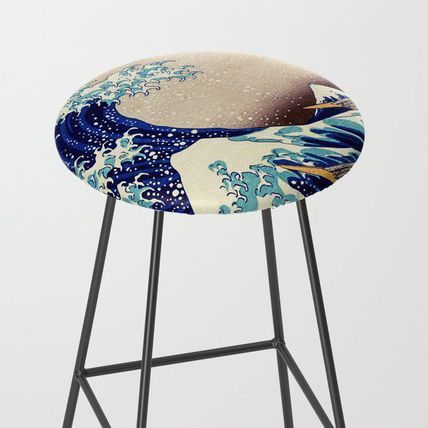 Society6 椅子・チェア 日本未入荷・送料無料 The Great Wave Off Kanagawa Bar Stool