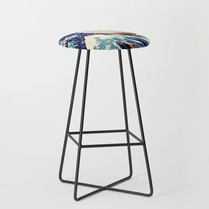 Society6 椅子・チェア 日本未入荷・送料無料 The Great Wave Off Kanagawa Bar Stool(2)