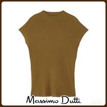 MassimoDutti♪HIGH NECK SWEATER WITH DECREASE STITCH DETAIL