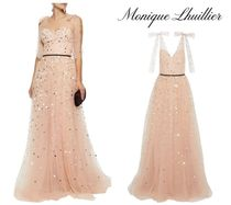 Monique Lhuillier(モニークルイリエ) ワンピースその他 MONIQUE LHUILLIER☆Bow-embellished sequined tulle gown