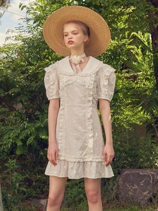 VITAL SIGN ワンピース 韓国発☆Puffy Strappy Embroidered Dress 2/VITALSIGN