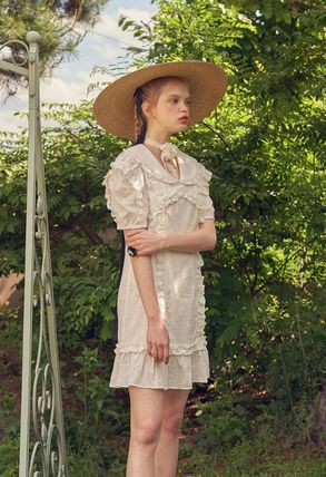 VITAL SIGN ワンピース 韓国発☆Puffy Strappy Embroidered Dress 2/VITALSIGN(5)