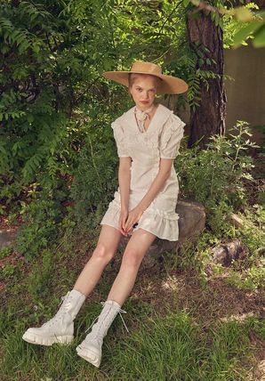 VITAL SIGN ワンピース 韓国発☆Puffy Strappy Embroidered Dress 2/VITALSIGN(6)