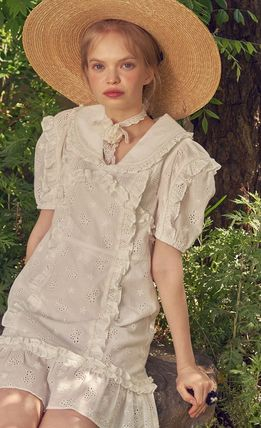 VITAL SIGN ワンピース 韓国発☆Puffy Strappy Embroidered Dress 2/VITALSIGN(7)
