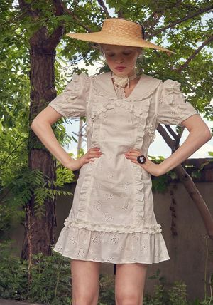 VITAL SIGN ワンピース 韓国発☆Puffy Strappy Embroidered Dress 2/VITALSIGN(8)