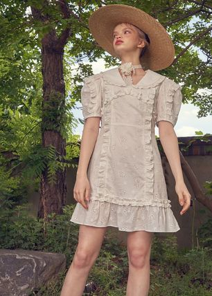 VITAL SIGN ワンピース 韓国発☆Puffy Strappy Embroidered Dress 2/VITALSIGN(9)