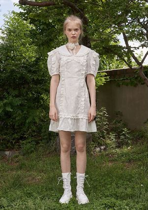 VITAL SIGN ワンピース 韓国発☆Puffy Strappy Embroidered Dress 2/VITALSIGN(10)
