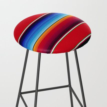 Society6 椅子・チェア 日本未入荷・送料無料 Traditional Mexican Serape in Red Multi