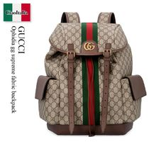Gucci Ophidia gg supreme fabric backpack