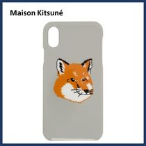 【Maison Kitsune】グレー Fox Head iPhone X ケース♡