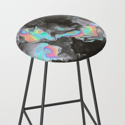 Society6 椅子・チェア 日本未入荷・送料無料 SPACE & TIME Bar Stool
