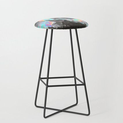 Society6 椅子・チェア 日本未入荷・送料無料 SPACE & TIME Bar Stool(2)