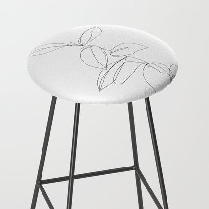 Society6 椅子・チェア 日本未入荷・送料無料 One line minimal plant leaves drawing -