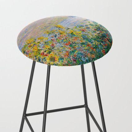 Society6 椅子・チェア 日本未入荷・送料無料 Flower Beds at Vetheuil by Claude Monet