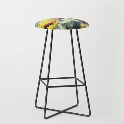Society6 椅子・チェア 日本未入荷・送料無料 Sunflowers Forever Bar Stool(2)