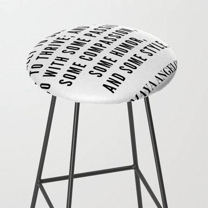Society6 椅子・チェア 日本未入荷・送料無料 Maya Angelou Quote About Her Mission In