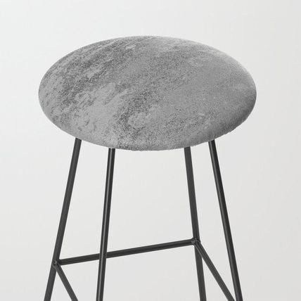 Society6 椅子・チェア 日本未入荷・送料無料 Simply Concrete Bar Stool