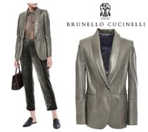 [関税・送料込] BRUNELLO CUCINELLI☆Leather blazer