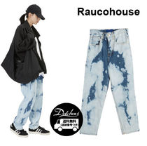 Raucohouse  BLEACH WIDE BLUE DENIM PANTS JH302 追跡付
