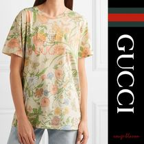 Tシャツ Embroidered floral-print cotton-jersey T-shirt