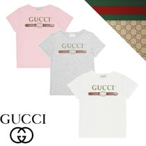 人気【グッチ】GUCCI KIDS Logo cotton T-shirt 大人OK