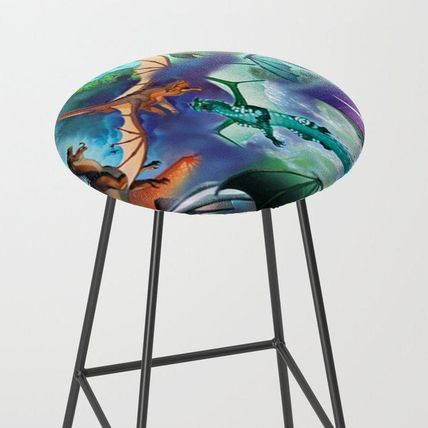 Society6 椅子・チェア 日本未入荷・送料無料 Wings-Of-Fire all dragon Bar Stool