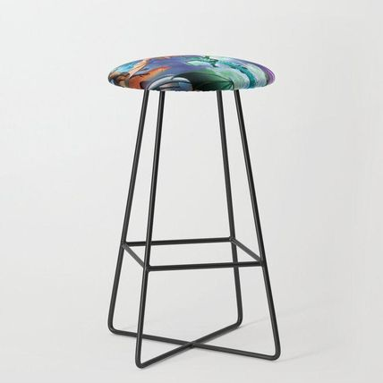 Society6 椅子・チェア 日本未入荷・送料無料 Wings-Of-Fire all dragon Bar Stool(2)