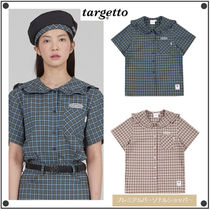 日本未入荷TARGETTO SEOULのFRILL SAILOR CHECK SHIRT 全2色