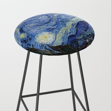 Society6 椅子・チェア 日本未入荷・送料無料 Starry Night by Vincent Van Gogh Bar St