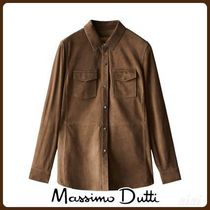 MassimoDutti♪SUEDE OVERSHIRT WITH POCKETS