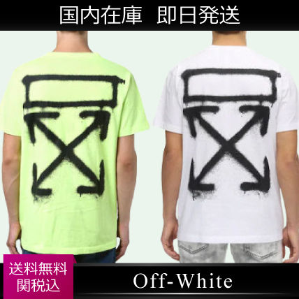 Off-White Tシャツ・カットソー 入手困難 人気 OFF-WHITE SPRAY PAINTING Tシャツ 送関込み