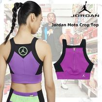お早めに!Jordan Moto Crop Top in  Purple/Black