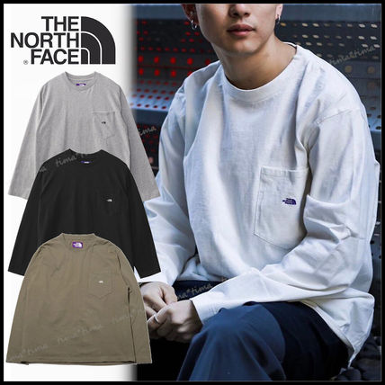 THE NORTH FACE Tシャツ・カットソー 国内発◆THE NORTH FACE PURPLE LABEL 7OZ L/S POCKET 定番T